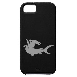 Caja negra y gris del iPhone 5 del tiburón de Hamm iPhone 5 Carcasas