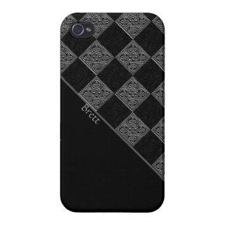 Caja negra y gris hermosa del iPhone 4 iPhone 4 Fundas