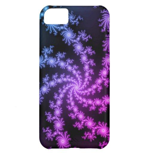 Caja negra y púrpura bonita del iPhone 5 del diseñ Funda Para iPhone 5C