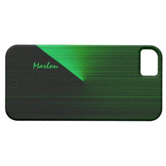Caja negra y verde de Marlon del iPhone 5 iPhone 5 Carcasa