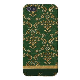 Caja negra y verde del iPhone 4 4S del damasco iPhone 5 Protector