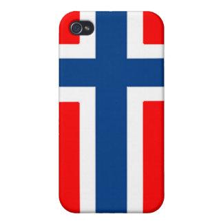 Caja noruega de la bandera iPhone 4 cárcasa