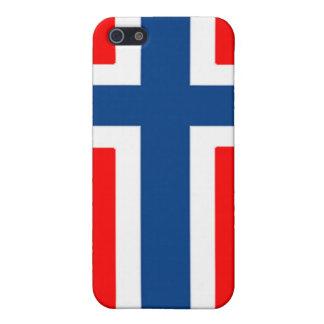 Caja noruega de la bandera iPhone 5 protector