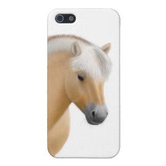 Caja noruega de la mota del caballo del fiordo iPhone 5 fundas
