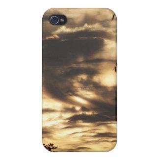 Caja nublada de oro del iPhone 4 de la salida del  iPhone 4 Protector
