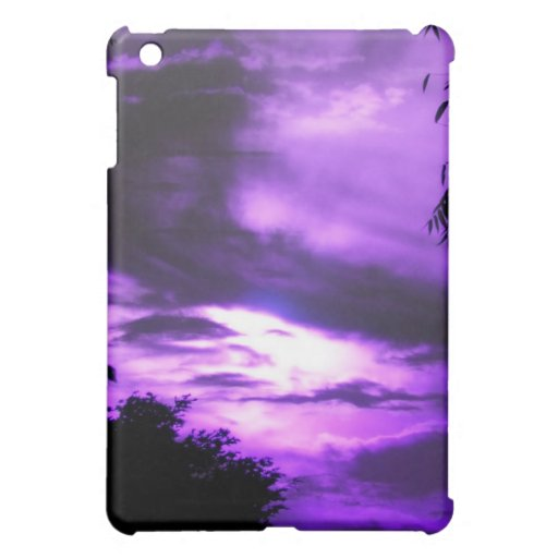 Caja nublada púrpura del iPad del cielo mini