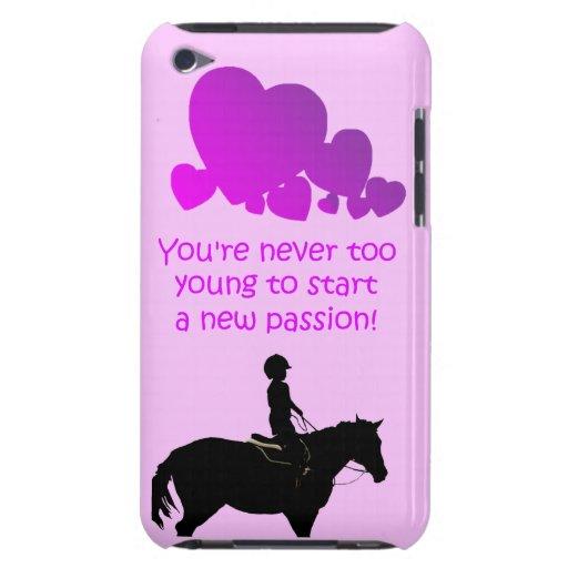 Caja nunca demasiado joven linda de la casamata de iPod Case-Mate cárcasa