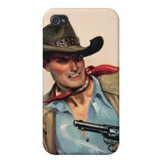 Caja occidental de la mota del iPhone de la arena iPhone 4 Fundas