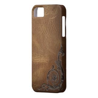 caja occidental del cuero iphone5 del marrón del iPhone 5 carcasa