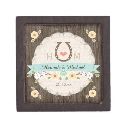 Caja occidental del recuerdo del boda del corazón  caja de recuerdo de calidad