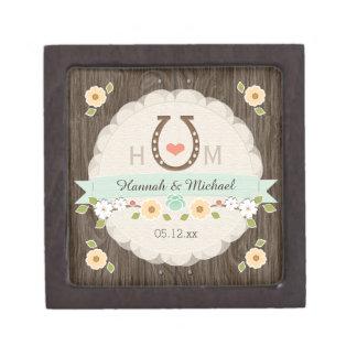 Caja occidental del recuerdo del boda del corazón  cajas de joyas de calidad