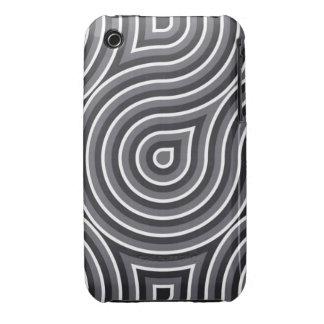 Caja óptica blanco y negro 3/3GS iPhone 3 Case-Mate Coberturas