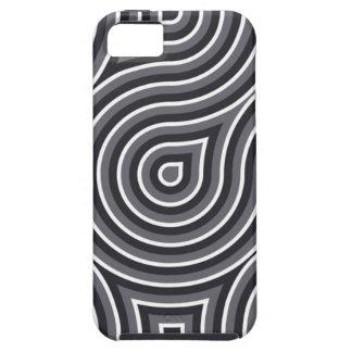 Caja óptica blanco y negro 4 iPhone 5 fundas
