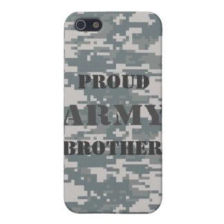 Caja orgullosa de la mota del camuflaje de Brother iPhone 5 Carcasas