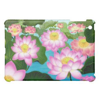 Caja oriental de la mota de las flores de Lotus
