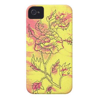 Caja oriental entonada sorbete de los flores de la Case-Mate iPhone 4 protector