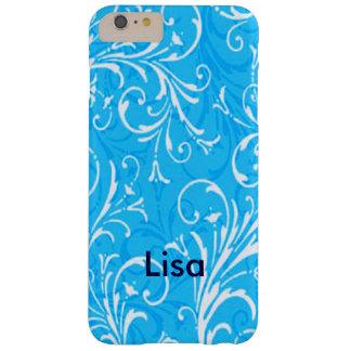 Caja ornamental azul personalizada del iPhone 6 Funda De iPhone 6 Plus Barely There