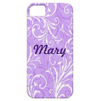 Caja ornamental púrpura de encargo del iPhone 5 iPhone 5 Carcasas