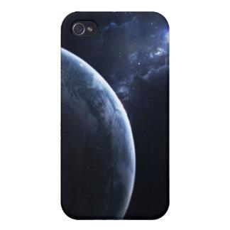 Caja oscura de la mota del iPhone 4 4s del planeta iPhone 4/4S Fundas