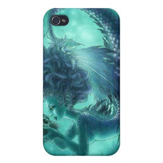 Caja oscura del iPhone 4/4S de la sirena - besos d iPhone 4 Cárcasa