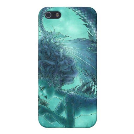 Caja oscura del iPhone 4/4S de la sirena - besos d iPhone 5 Fundas