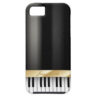 Caja oscura del iPhone 5 del metal del piano de ti iPhone 5 Coberturas