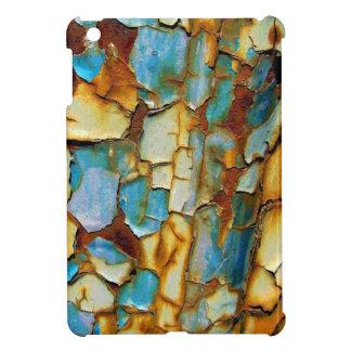 Caja oxidada azul del iPad de la pintura que salta