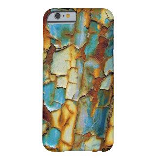 Caja oxidada azul del iPhone 6 de la pintura que Funda De iPhone 6 Barely There