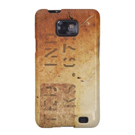 Caja oxidada de la galaxia S de Samsung de la text Samsung Galaxy S2 Fundas