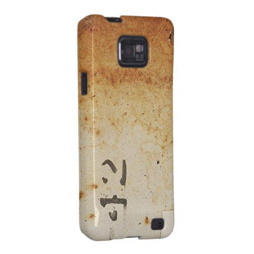 Caja oxidada de la galaxia S de Samsung de la text Galaxy S2 Fundas