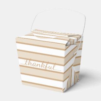 Caja para llevar del envase de la raya agradecida caja para regalo de boda