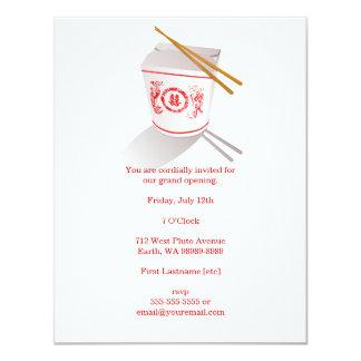 """Caja para llevar del restaurante chino invitación 4.25"""" x 5.5"""""""