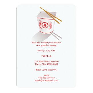 """Caja para llevar del restaurante chino invitación 5"""" x 7"""""""