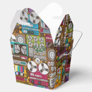 Caja para llevar retra del favor del estudio de cajas para regalos