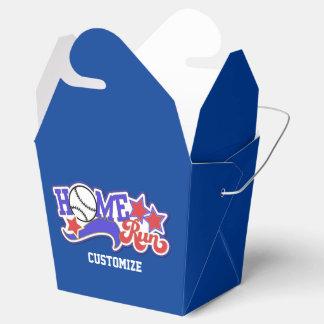 Caja para llevar roja del béisbol blanco y azul cajas para regalos de fiestas