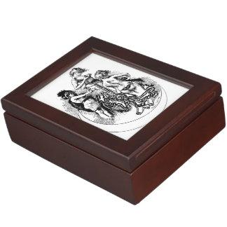 Caja para mujer del recuerdo del gabinete de señor caja de recuerdos