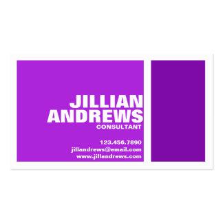Caja partida moderna intrépida - púrpura tarjetas de visita