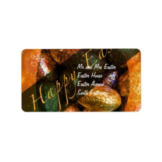 Caja Pascua del chocolate Etiquetas De Dirección