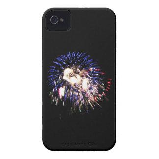 Caja patriótica de Blackberry de los fuegos Carcasa Para iPhone 4 De Case-Mate