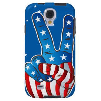 Caja patriótica de los dedos S4 de la mano de la Funda Para Galaxy S4