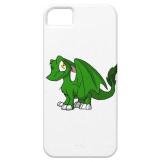 Caja peluda verde del iPhone del dragón del SD del Funda Para iPhone 5 Barely There