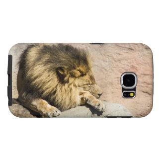 Caja perezosa del teléfono del león funda samsung galaxy s6