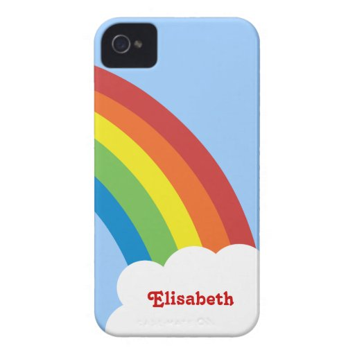 caja personalizada arco iris retro del iPhone 4/4S iPhone 4 Funda