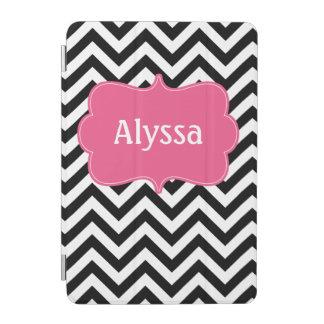 Caja personalizada Chevron rosada negra Cubierta De iPad Mini