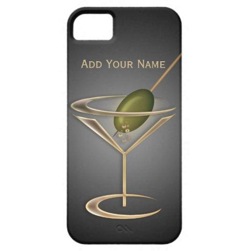 Caja personalizada cócteles lindos del iPhone 5 iPhone 5 Protectores