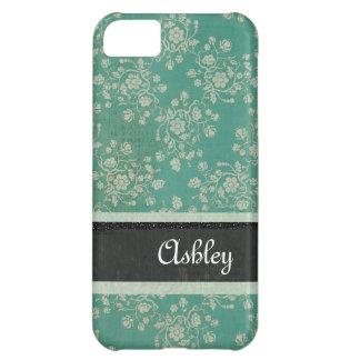 Caja personalizada damasco azul floral del iPhone Funda Para iPhone 5C