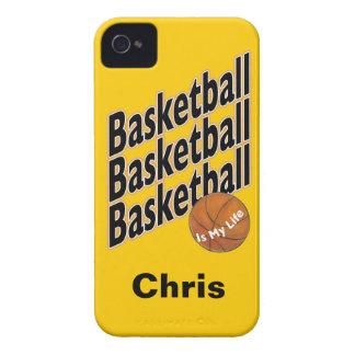 Caja personalizada de Blackberry del baloncesto iPhone 4 Fundas
