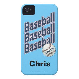 Caja personalizada de Blackberry del béisbol Case-Mate iPhone 4 Protectores