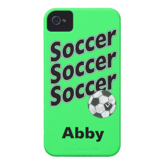 Caja personalizada de Blackberry del fútbol iPhone 4 Case-Mate Carcasa