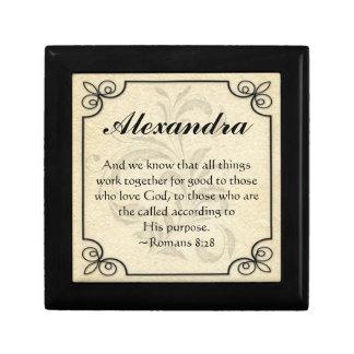 Caja personalizada de la baratija del verso de la  caja de recuerdo